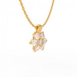 Gold Diamond flower pendant Paris collection