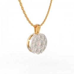 Gold Diamond Pavé Pendant Paris Collection