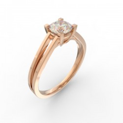 Gold Diamond solitaire Paris collection