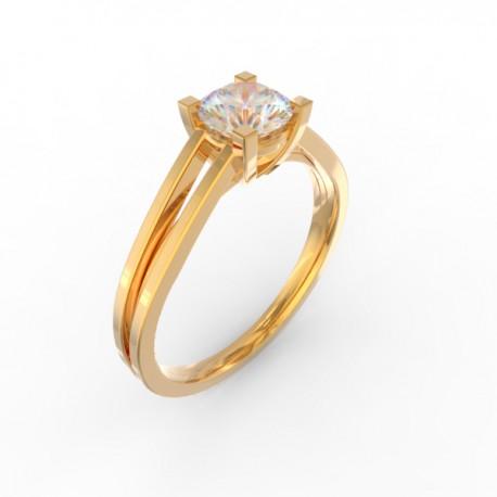 Gold Diamond solitaire Paris collection