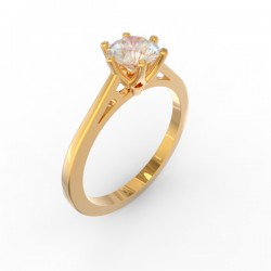 Gold Diamond 6 claw solitaire Paris collection