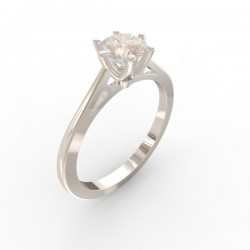 Platinum Diamond 6 claw Solitaire Paris collection