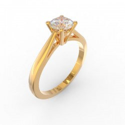 Gold Diamond 4 claw solitaire Paris collection
