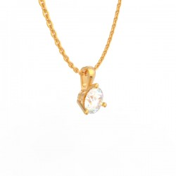 Gold Diamond pendant Paris collection large chain loop