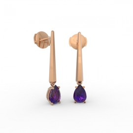 Earrings Dubai articulated amethyst