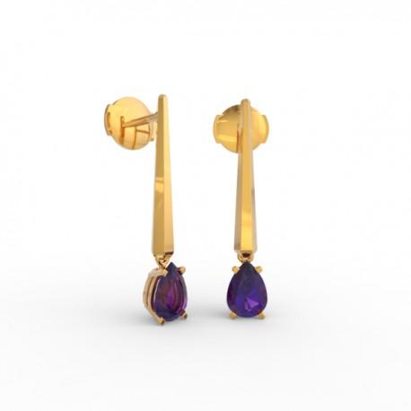 Earrings Dubai articulated amethyst