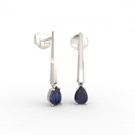 Earrings Dubai articulated blue sapphire