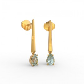 Earrings Dubai articulated aquamarine