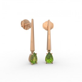 Earrings Dubai articulated peridot