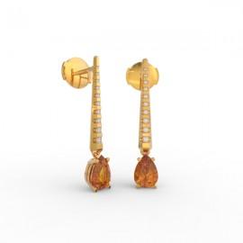 Earrings Dubai articulated orange citrine 18 dts