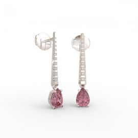 Earrings Dubai articulated pink sapphire 18 dts