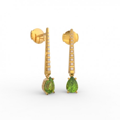 Earrings Dubai articulated peridot 18 dts