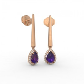 Earrings Dubai articulated amethyst 44 dts