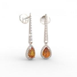 Boucles d'oreilles Citrine Cognac Dubaï