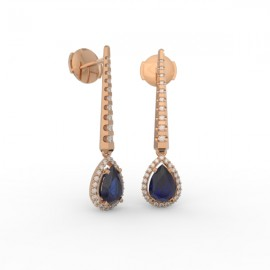 Earrings Dubai articulated blue sapphire 62 dts