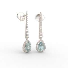 Earrings Dubai articulated aquamarine 62 dts