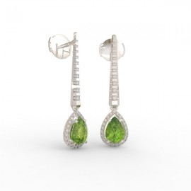 Earrings Dubai articulated peridot 62 dts