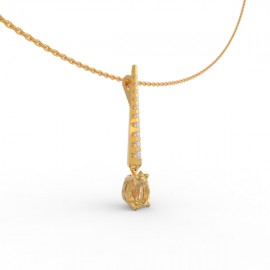 Pendant Dubai articulated gold citrine 9 dts