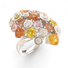 Yellow sapphire & diamond oval ring collection Amsterdam