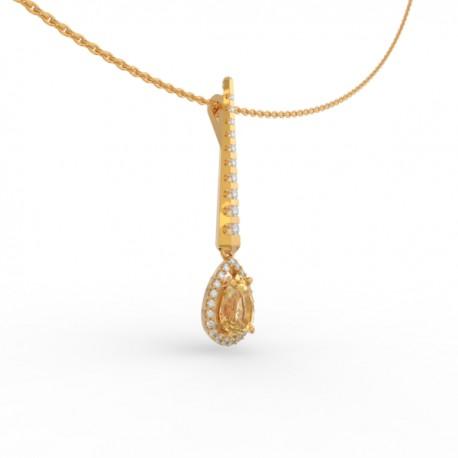 Pendant Dubai articulated gold citrine 31 dts