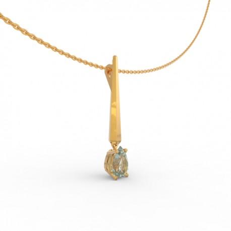 Pendant Dubai articulated aquamarine