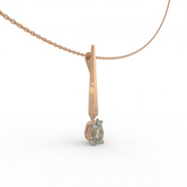 Pendant Dubai articulated aquamarine