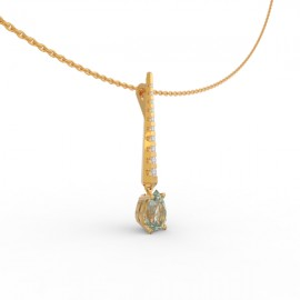 Pendant Dubai articulated aquamarine 9 dts