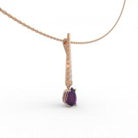 Pendentif Améthyste 10 diamants Dubaï
