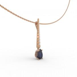 Pendentif  Saphir Bleu 10 diamants Dubaï