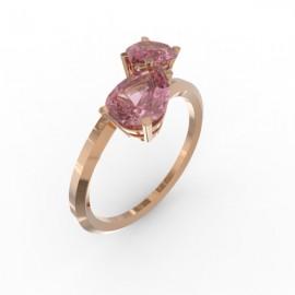 Toi & Moi ring Dubai double pink sapphire