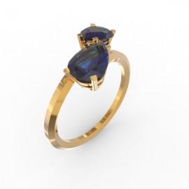 Toi & Moi ring Dubai double blue sapphire
