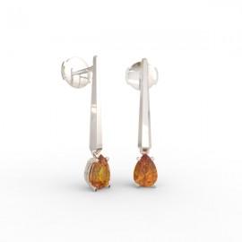 Earrings Dubai articulated orange citrine