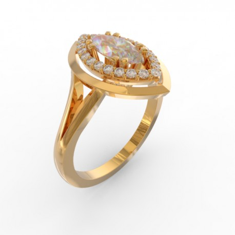 Marquise cut diamond ring collection Manhattan
