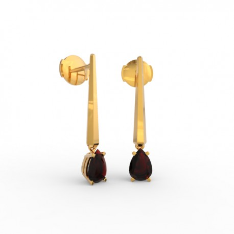 Earrings Dubai articulated garnet