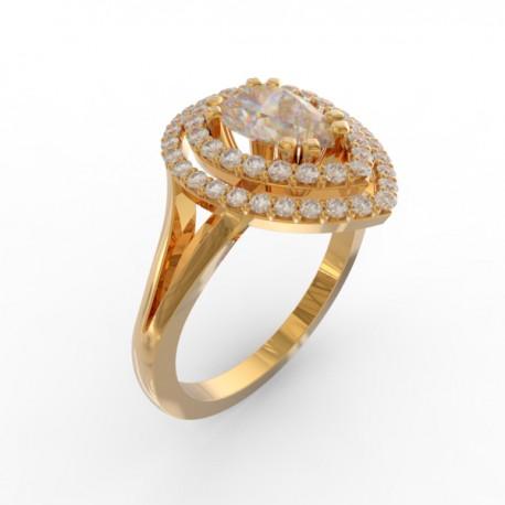 Pear cut diamond ring collection Manhattan