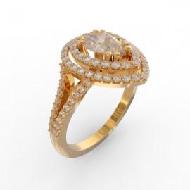 Bague joaillerie Manhattan diamant poire 87 diamants