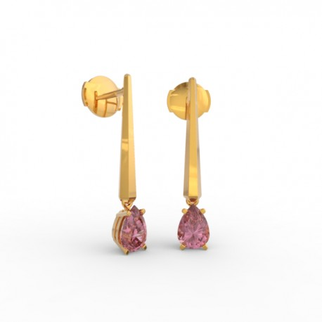 Earrings Dubai articulated pink sapphire