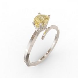Toi & Moi ring Dubai single gold citrine