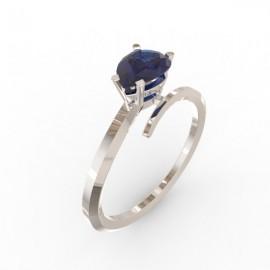 Toi & Moi ring Dubai single blue sapphire