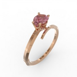 Toi & Moi ring Dubai single pink sapphire