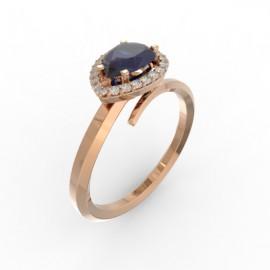 Toi & Moi ring Dubai single blue sapphire 22 dts