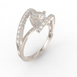 Solitaire Vienne un diamant central  43 diamants