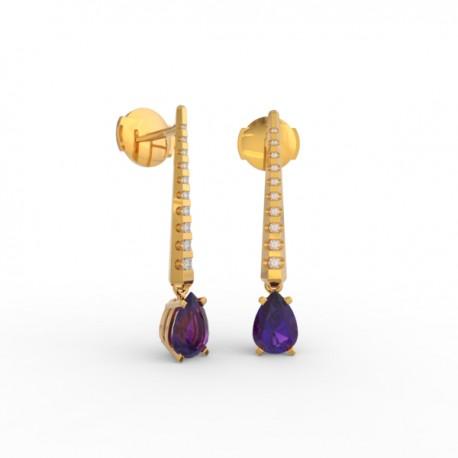 Earrings Dubai articulated amethyst 18 dts