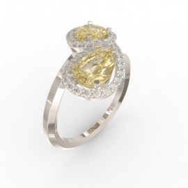 Toi & Moi ring Dubai double gold citrine 44 dts