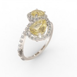 Toi & Moi ring Dubai double gold citrine 58 dts