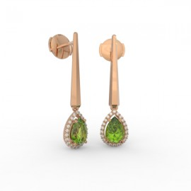 Earrings Dubai articulated peridot 44 dts