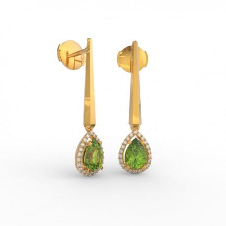 Earrings Dubai articulated peridot 44 dts