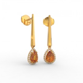 Earrings Dubai articulated orange citrine 44 dts
