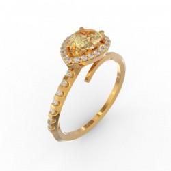 Toi & Moi ring Dubai single gold citrine 29 dts