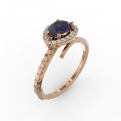 Toi & Moi ring Dubai single blue sapphire 29 dts